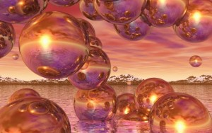 Burbujas púrpura