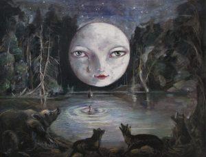 Luna llorando